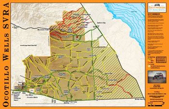 Ocotillo Wells Map Trail Maps   Ironwoods Off Road Rentals